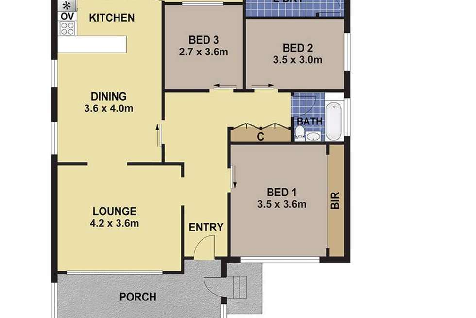 Floorplan of Homely house listing, 10 Crescent Road, Waratah NSW 2298