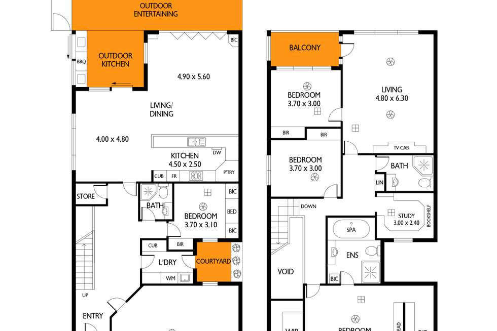 Floorplan of Homely house listing, 1 Cowell Place, Mile End SA 5031