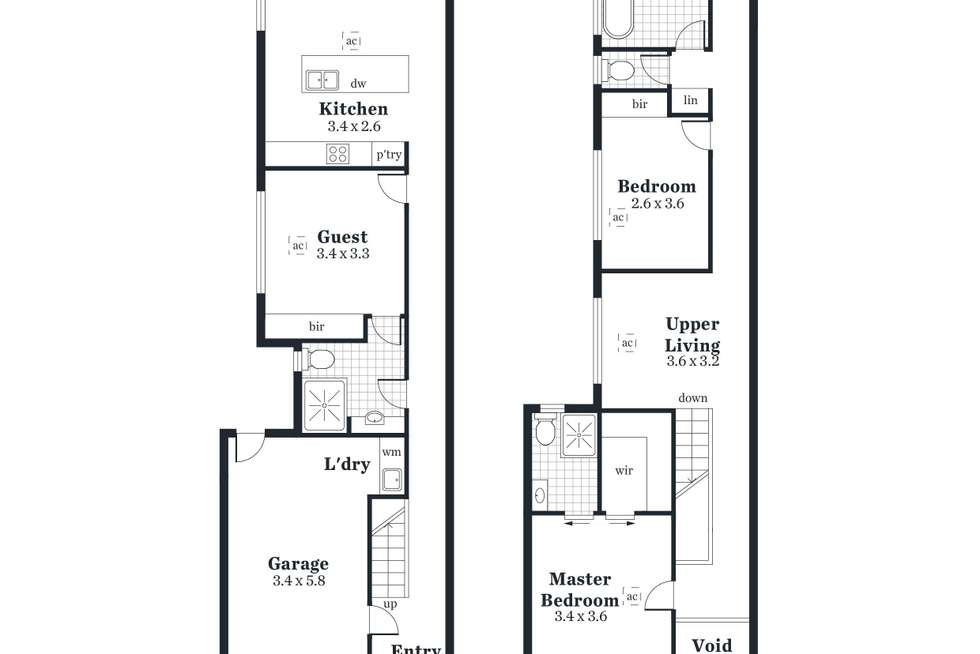 Floorplan of Homely house listing, 15C & 15D Margaret Street, Firle SA 5070