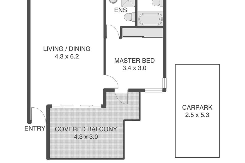 Floorplan of Homely unit listing, 33/7 Landsborough Terrace, Toowong QLD 4066