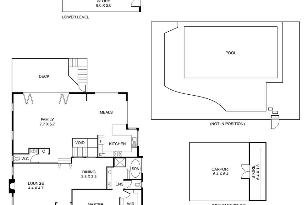 Floorplan of Homely house listing, 54 Ternes Road, Upwey VIC 3158