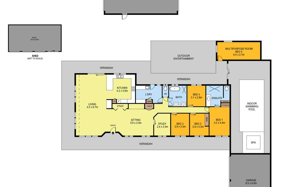 Floorplan of Homely house listing, 24 Michelle Drive, Maiden Gully VIC 3551