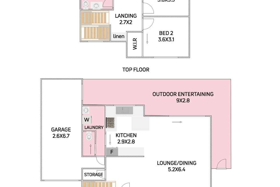 Floorplan of Homely townhouse listing, 2/25 William Street, Keiraville NSW 2500
