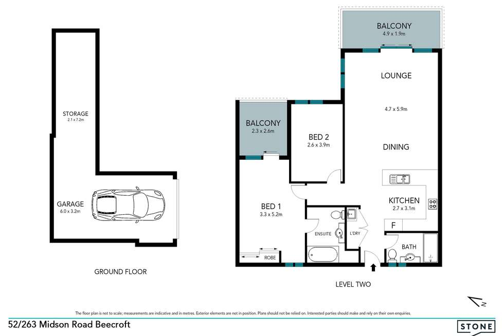Floorplan of Homely unit listing, 52/263 Midson Road, Beecroft NSW 2119