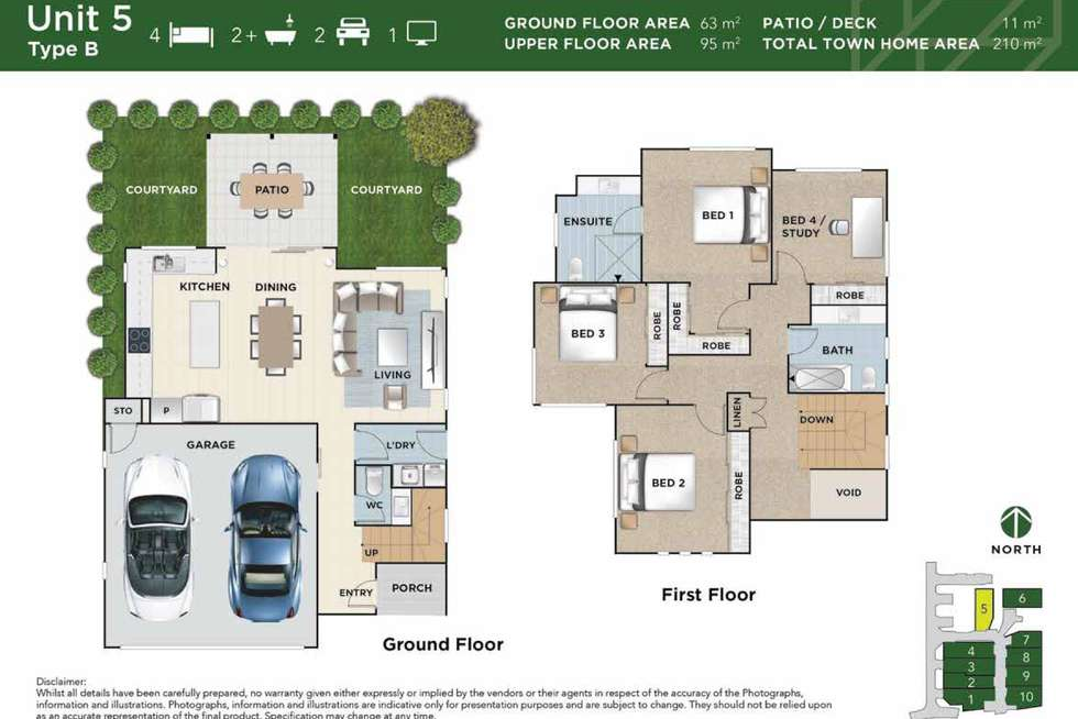 Floorplan of Homely townhouse listing, 1/20 Cecilia Close, Carina Heights QLD 4152