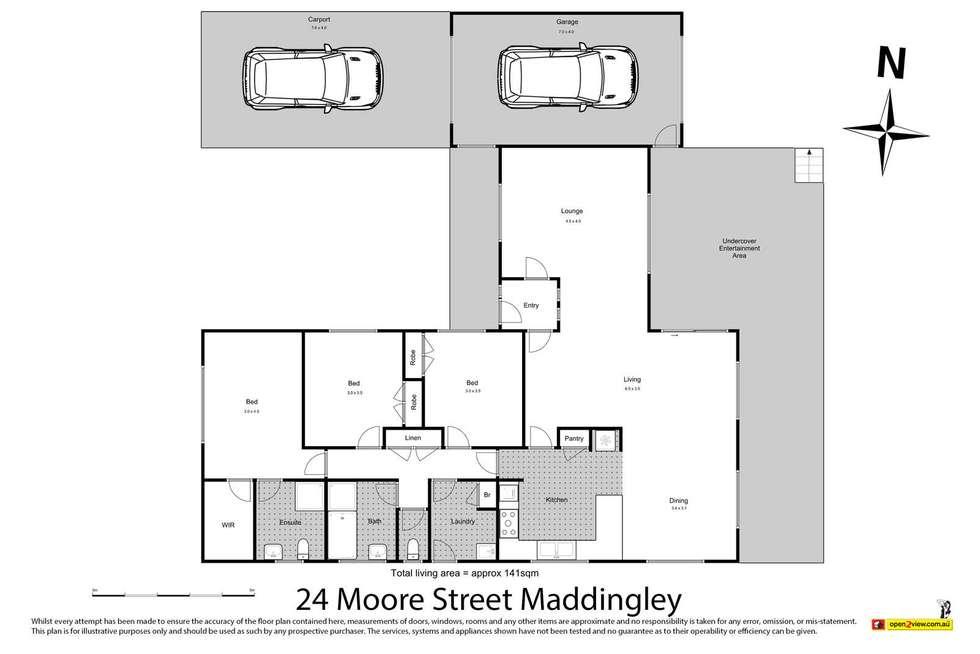 Floorplan of Homely house listing, 24 Moore Street, Bacchus Marsh VIC 3340