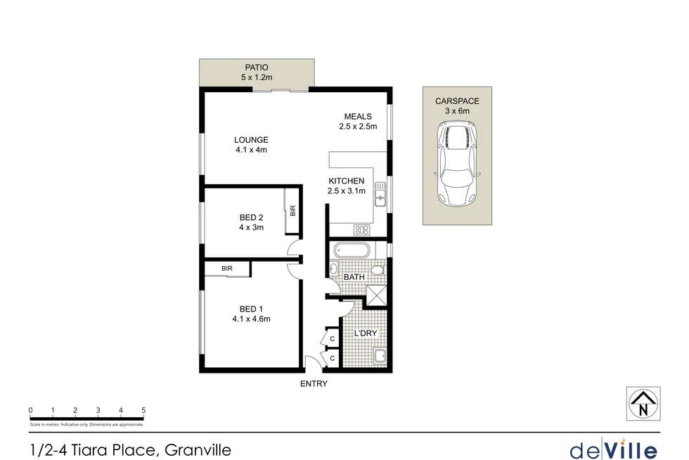 Floorplan of Homely unit listing, 1/2-4 Tiara Place, Granville NSW 2142