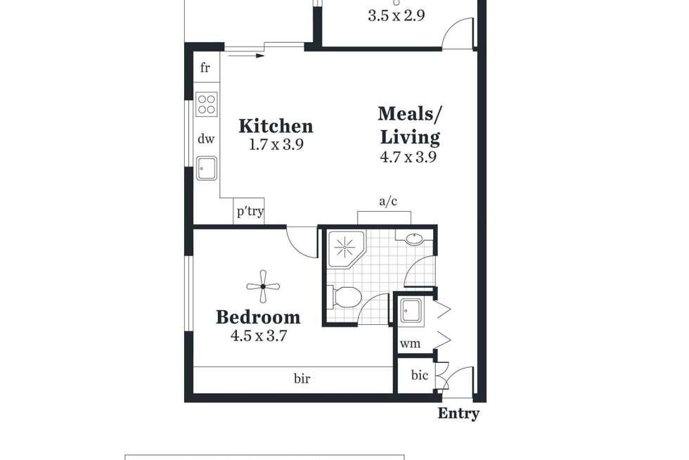 Floorplan of Homely apartment listing, 404/14 Gilbert Street, Adelaide SA 5000