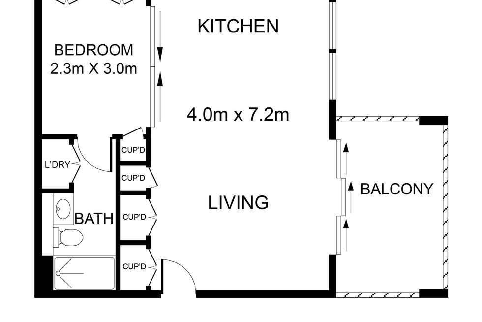 Floorplan of Homely apartment listing, 105/762-768 Elizabeth Street, Waterloo NSW 2017
