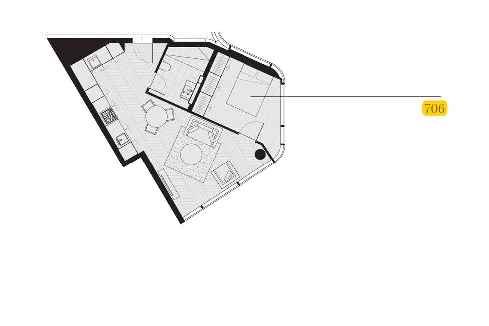 Floorplan of Homely apartment listing, 706/71 Macquarie Street, Sydney NSW 2000