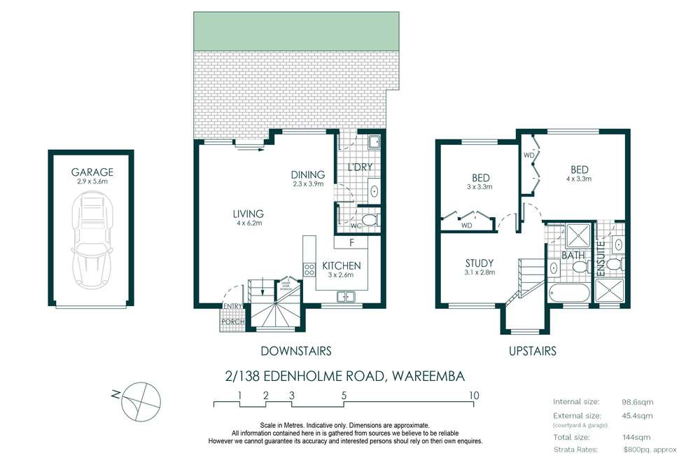 Floorplan of Homely townhouse listing, 2/138 Edenholme Road, Wareemba NSW 2046