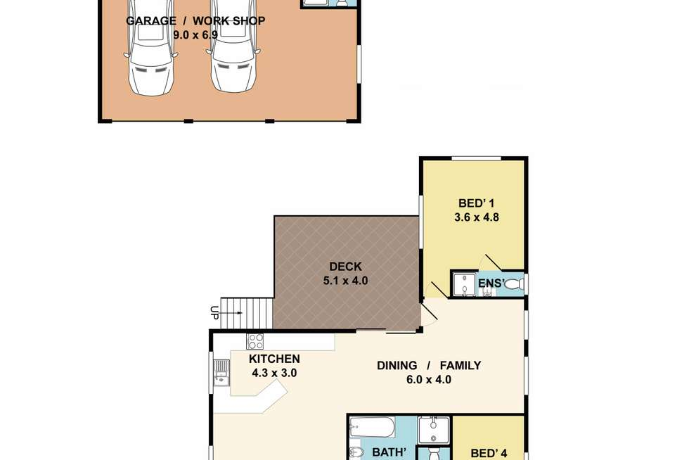 Floorplan of Homely house listing, 21 Michigan Avenue, Asquith NSW 2077