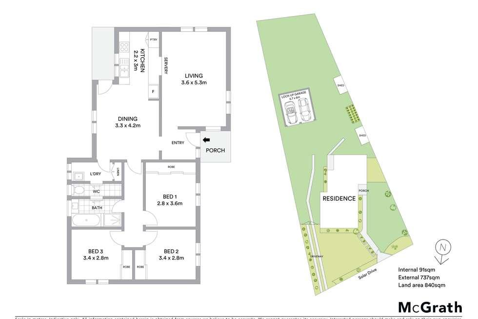 Floorplan of Homely house listing, 169 Solar Drive, Whittington VIC 3219
