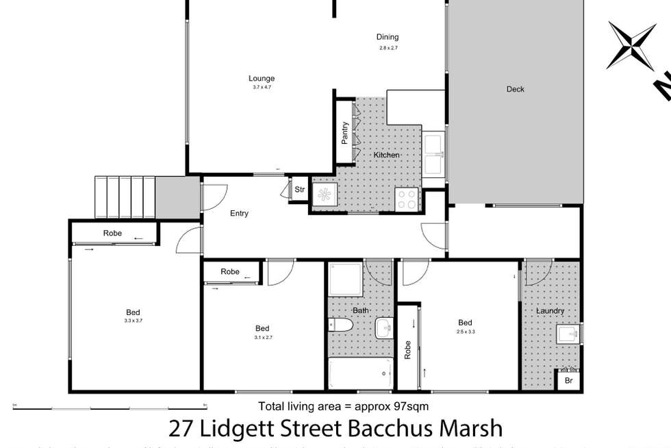 Floorplan of Homely house listing, 27 Lidgett Street, Bacchus Marsh VIC 3340