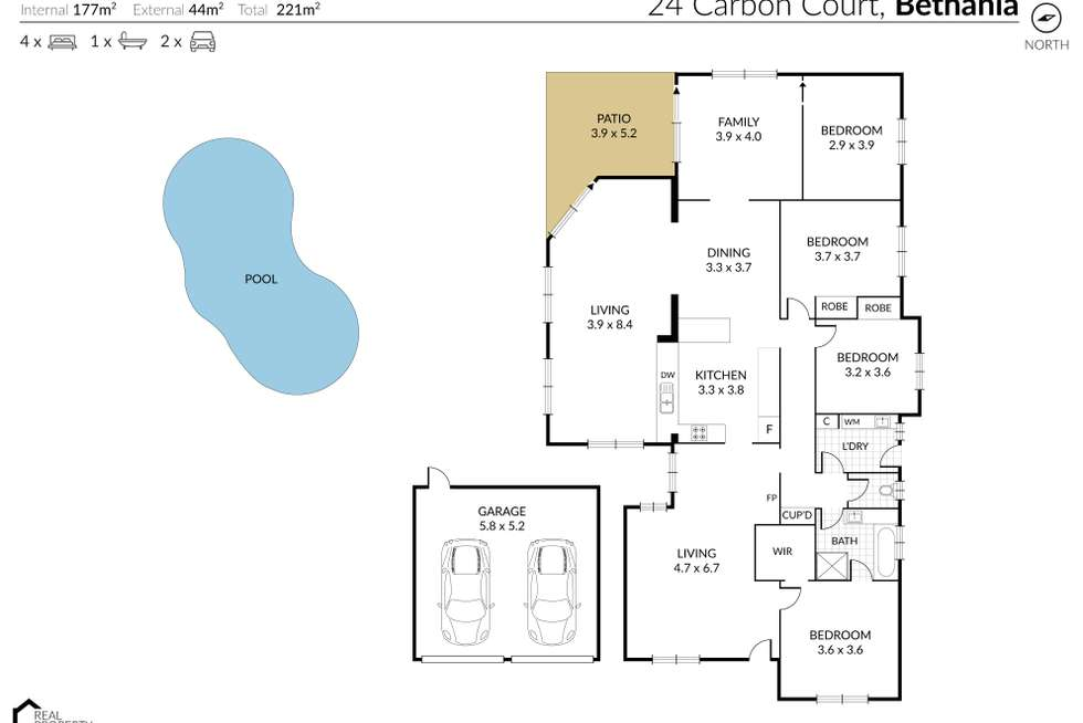 Floorplan of Homely house listing, 24 Carbon Court, Bethania QLD 4205