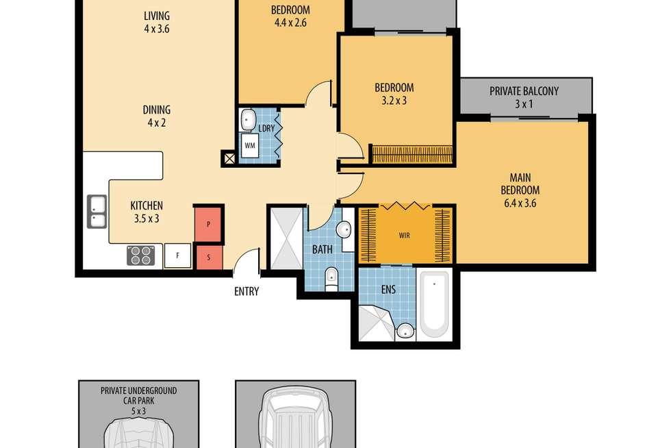Floorplan of Homely unit listing, 352/80 John Whiteway Drive, Gosford NSW 2250