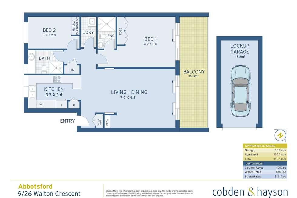 Floorplan of Homely apartment listing, 9/26 Walton Crescent, Abbotsford NSW 2046