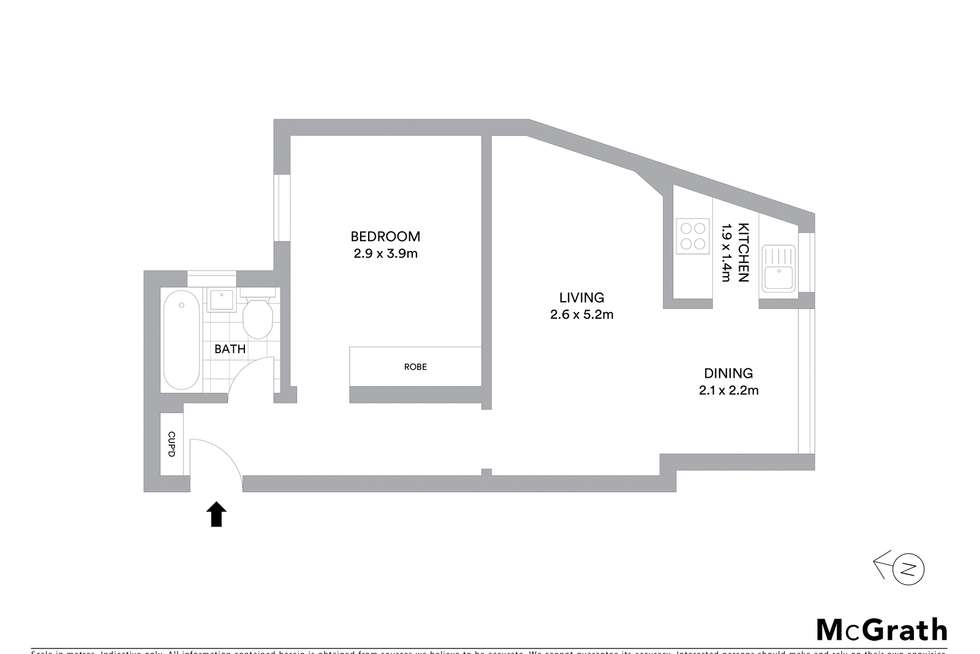 Floorplan of Homely apartment listing, 2/21 St Neot Avenue, Potts Point NSW 2011