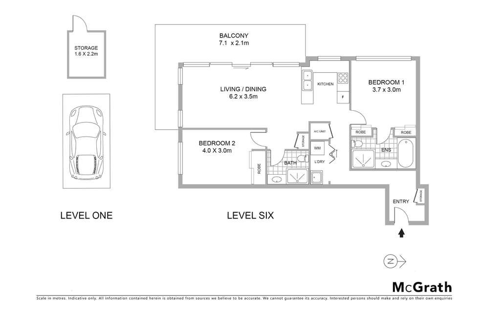 Floorplan of Homely apartment listing, 141/8-12 Thomas Street, Waitara NSW 2077