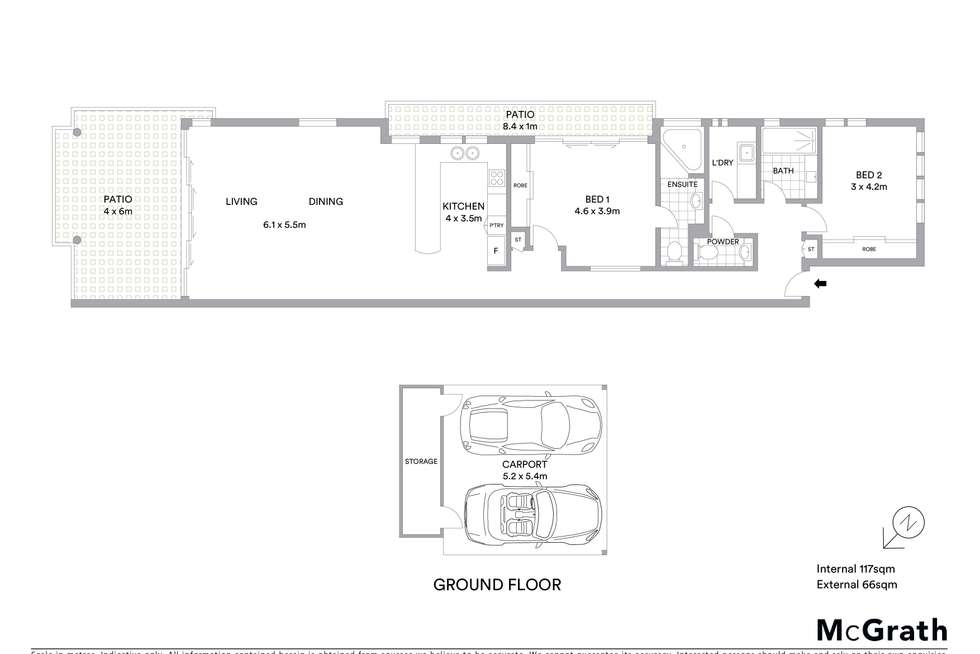 Floorplan of Homely apartment listing, 5/97 The Strand, North Ward QLD 4810
