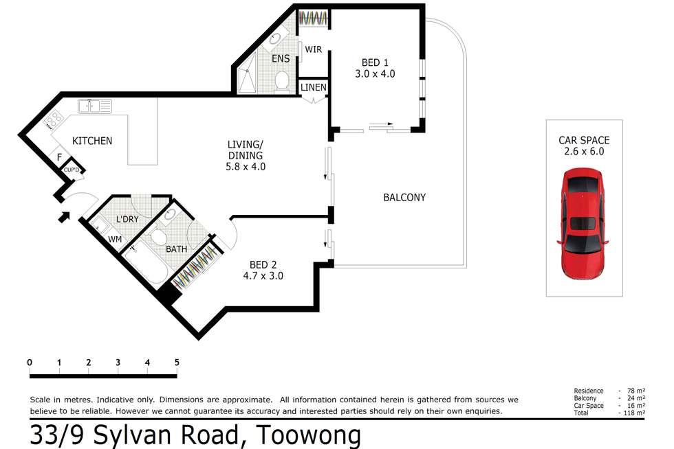 Floorplan of Homely unit listing, 33/9 Sylvan Road, Toowong QLD 4066