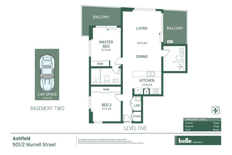 Floorplan of Homely apartment listing, 501/2 Murrell Street, Ashfield NSW 2131