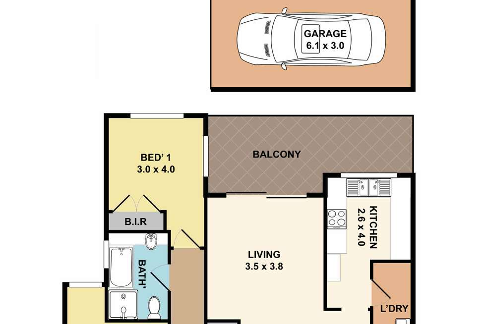 Floorplan of Homely apartment listing, 2/44-46 Florence Street, Hornsby NSW 2077