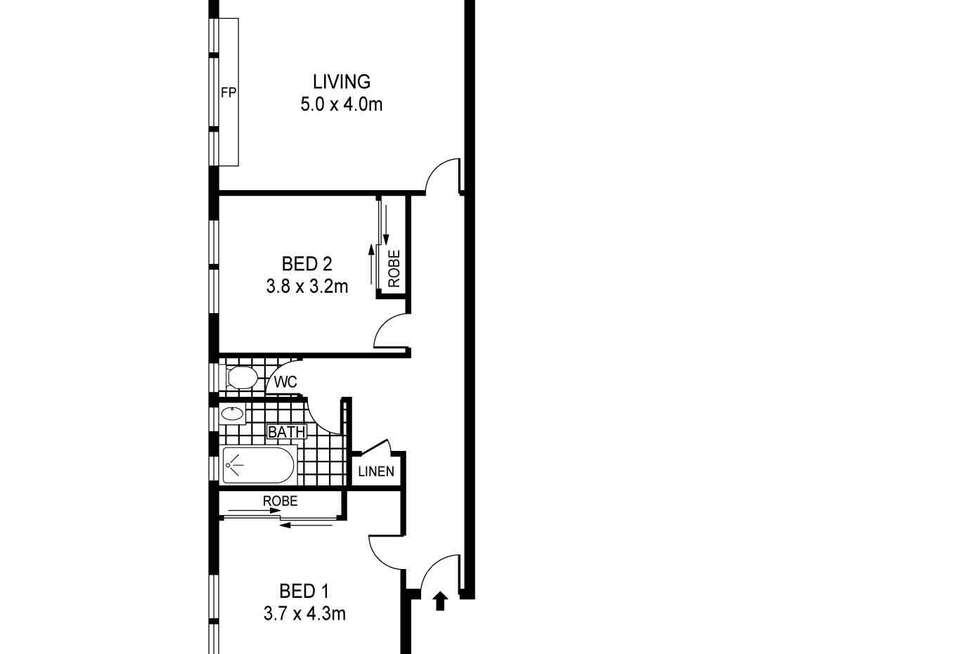 Floorplan of Homely apartment listing, 3/9B Carr Street, Coogee NSW 2034