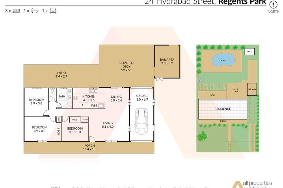 Floorplan of Homely house listing, 24 Hydrabad Street, Regents Park QLD 4118