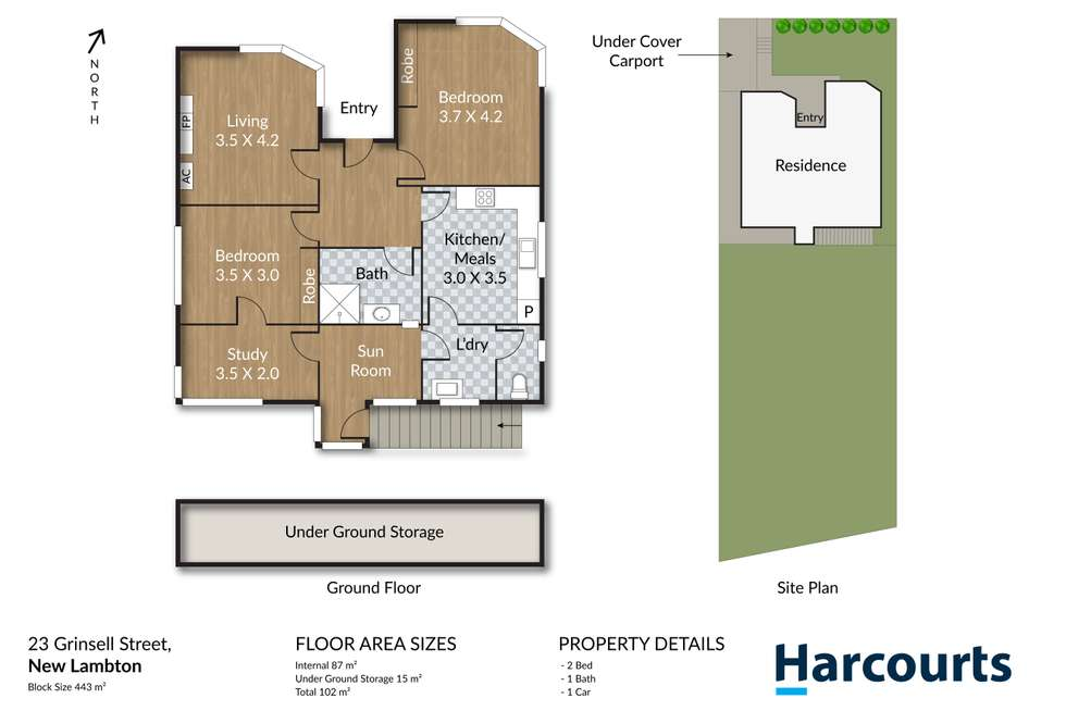 Floorplan of Homely house listing, 23 Grinsell Street, New Lambton NSW 2305