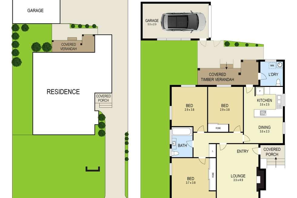 Floorplan of Homely house listing, 35 Fairfield Avenue, New Lambton NSW 2305
