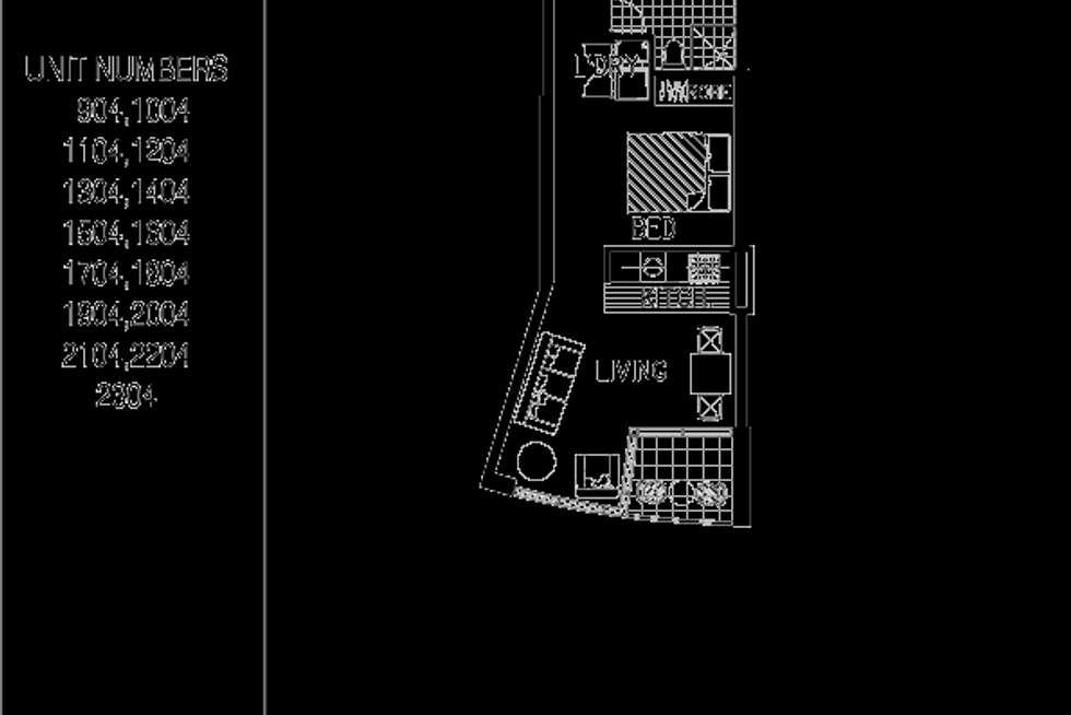 Floorplan of Homely studio listing, 1704/79-81 Berry Street, North Sydney NSW 2060