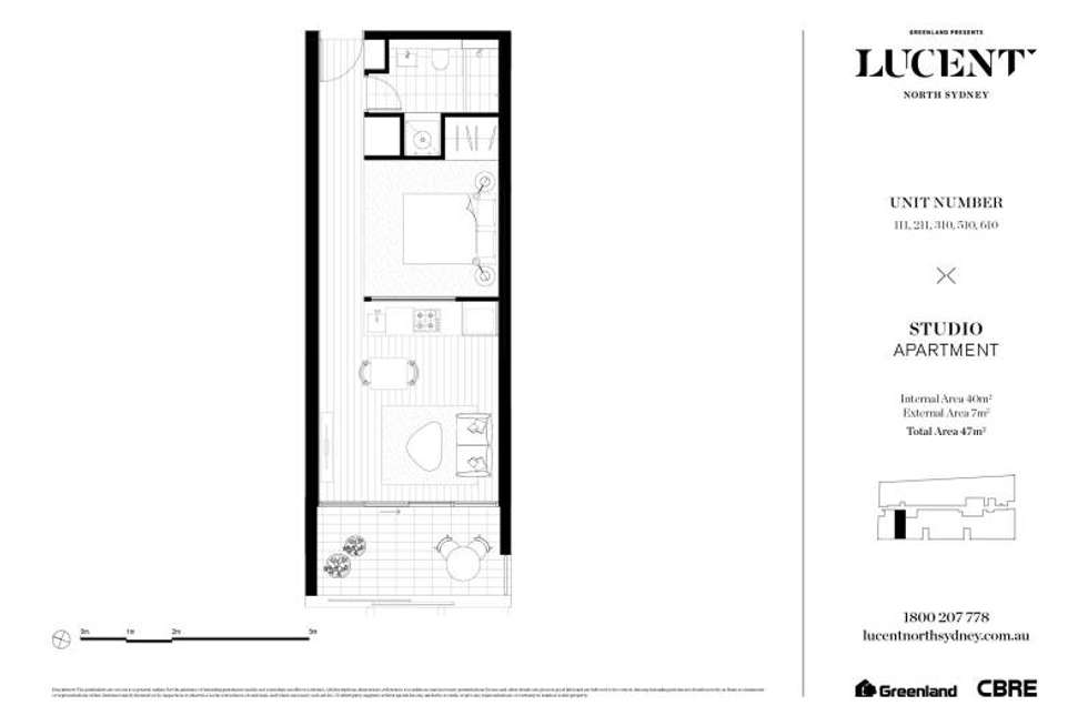 Floorplan of Homely apartment listing, 310/225 Pacific Highway, North Sydney NSW 2060