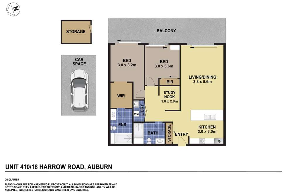 Floorplan of Homely apartment listing, 410/18 Harrow Road, Auburn NSW 2144