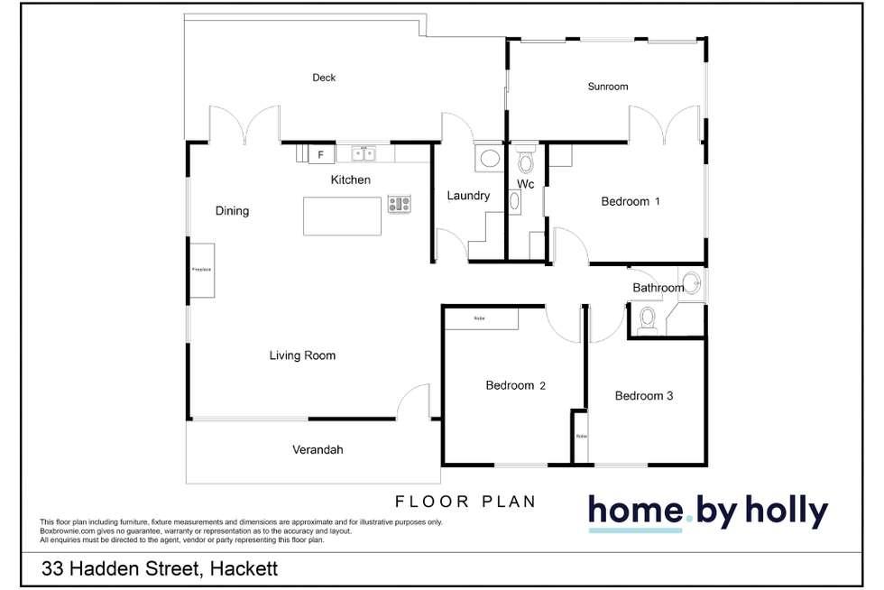 Floorplan of Homely house listing, 33 Haddon Street, Hackett ACT 2602