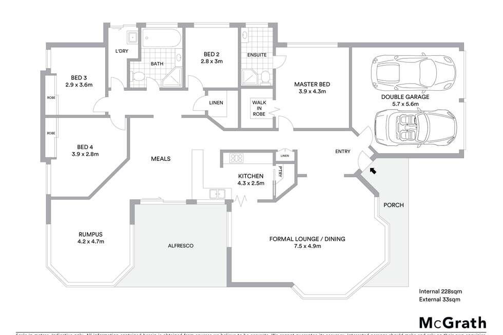 Floorplan of Homely house listing, 17 Ulana Avenue, Halekulani NSW 2262