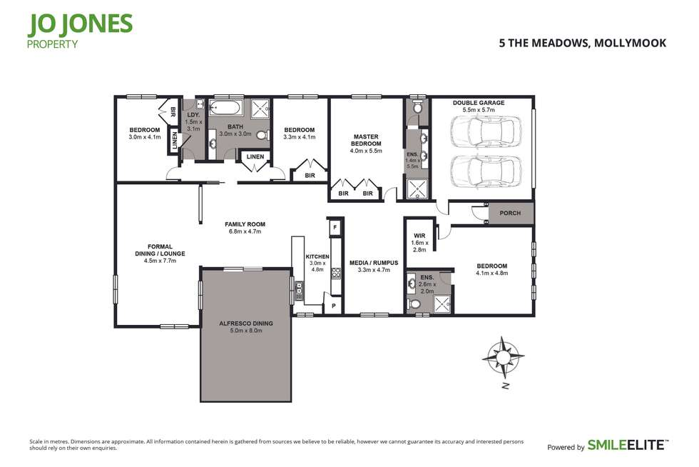 Floorplan of Homely house listing, 5 The Meadows, Mollymook NSW 2539