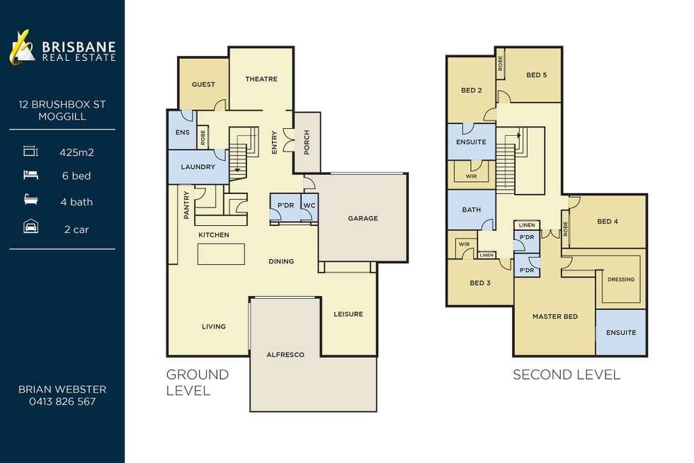 Floorplan of Homely house listing, 12 Brushbox Street, Moggill QLD 4070