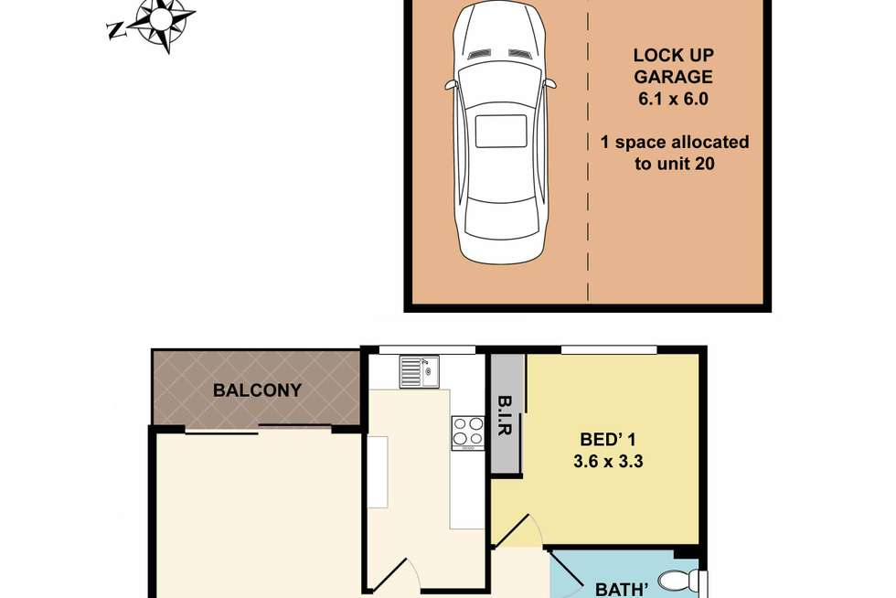 Floorplan of Homely apartment listing, 20/81-83 Florence Street, Hornsby NSW 2077