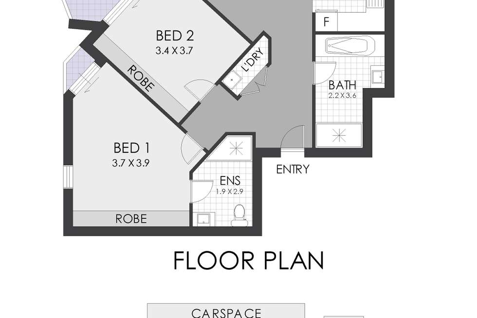 Floorplan of Homely apartment listing, 301/11-13 Hercules Street, Ashfield NSW 2131