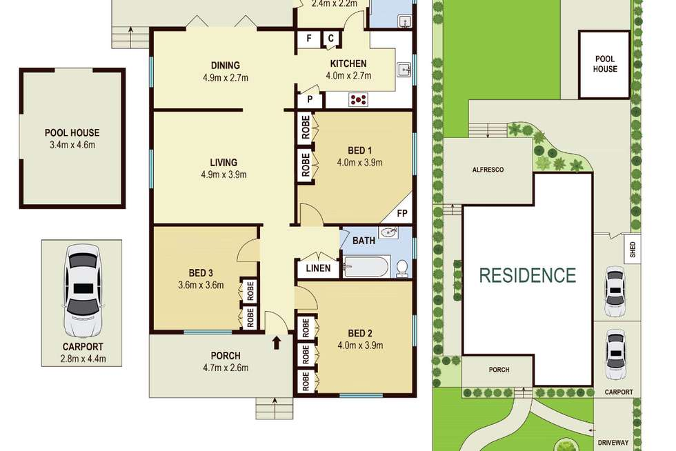 Floorplan of Homely house listing, 48 Olive Street, Asquith NSW 2077