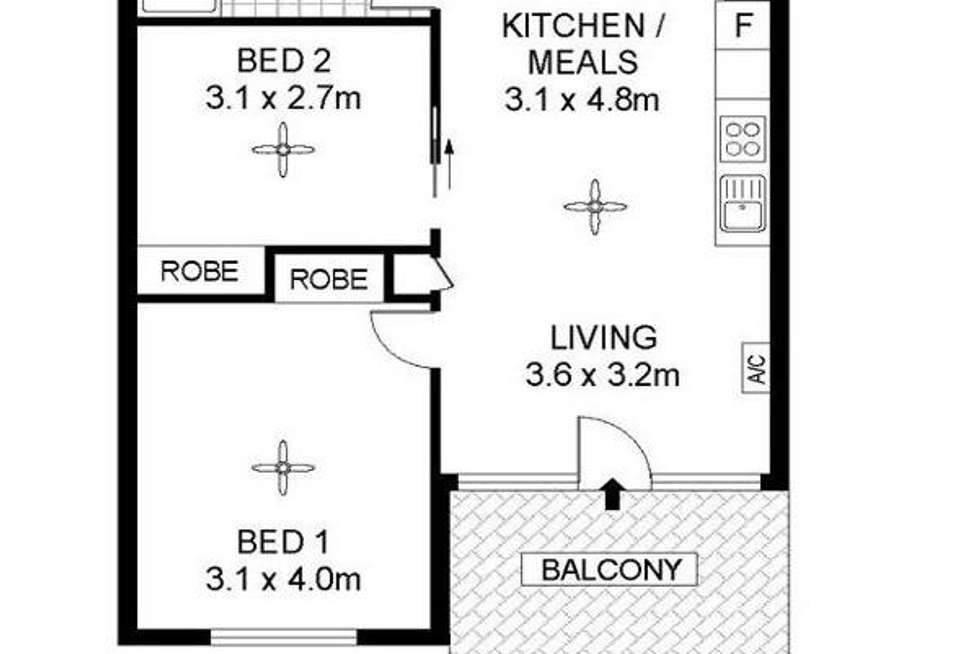 Floorplan of Homely apartment listing, 603/22 Ifould Street, Adelaide SA 5000