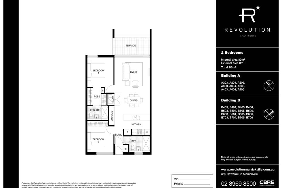 Floorplan of Homely apartment listing, A403/359 Illawarra Road, Marrickville NSW 2204