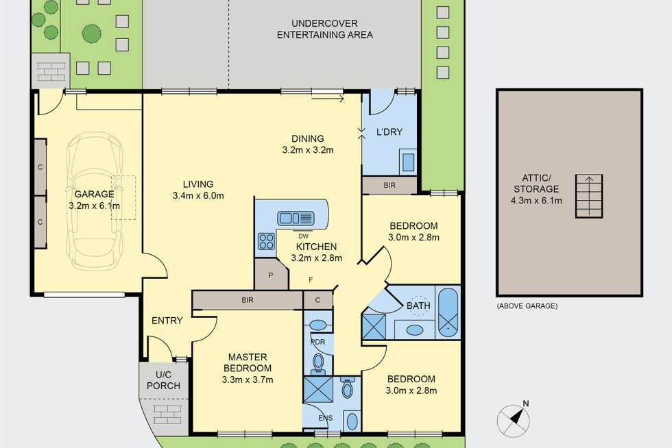 Floorplan of Homely townhouse listing, 27 Balerno Circle, Gowanbrae VIC 3043