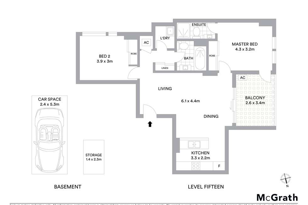 Floorplan of Homely apartment listing, 1501/29 Hunter Street, Parramatta NSW 2150