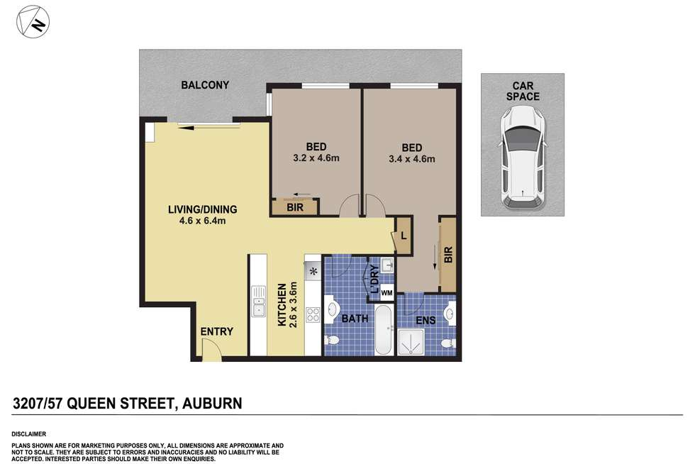 Floorplan of Homely apartment listing, 3207/57-59 Queen Street, Auburn NSW 2144