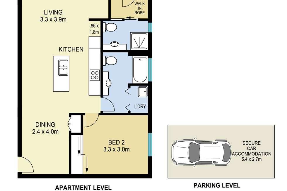 Floorplan of Homely unit listing, 7/28 Chatsworth Road, Greenslopes QLD 4120