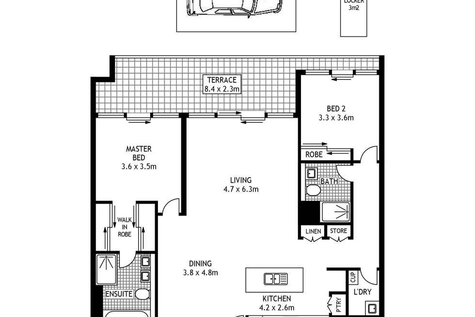 Floorplan of Homely apartment listing, 2C/5 Tambua Street, Pyrmont NSW 2009