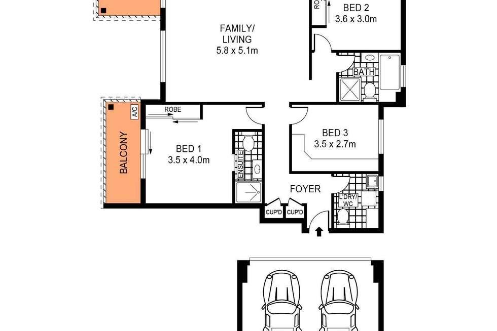Floorplan of Homely unit listing, 15/31-35 Premier Street, Gymea NSW 2227