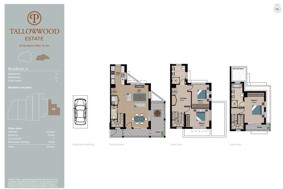 Floorplan of Homely townhouse listing, 6/10 Newhaven Place, St Ives NSW 2075
